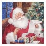 Салфетка ti-flair 33x33см трипластова Santa Claus checking Wishlist -1 брой