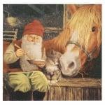 Салфетка ti-flair 33x33см трипластова Nisse with Horse -1 брой