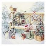 Салфетка ti-flair 33x33см трипластова Winter Gardening -1 брой