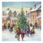 Салфетка ti-flair 33x33см трипластова Christmas Market -1 брой