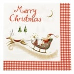 Салфетка ti-flair 33x33см трипластова Merry Christmas with Santa -1 брой