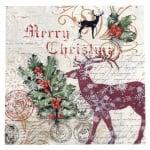 Салфетка ti-flair 33x33см трипластова Santa Claus Postage -1 брой