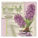 Салфетка ti-flair 33x33см трипластова Lilac Hyacinthus -1 брой