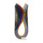 Ленти за квилинг (хартия 130 гр) 6 мм/ 35 см -10 интензивни цвята - 100бр