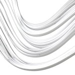 Ленти за квилинг (хартия 90 гр) 3 мм/ 30 см - бели - 100бр