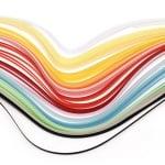 Ленти за квилинг (хартия 90 гр) 6 мм/ 50 см -20 цвята МИКС - 200бр