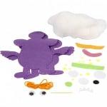 """Комплект """"Направи си сам"""" забавен приятел Monster - Topsy 24x21 см Creativ лилав"""