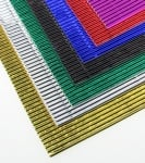 Гофриран картон металик А4 20 x 30 см асорте цветове - 10 бр