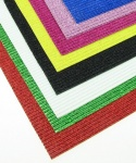 Гофриран картон с брокат А4 20 x 30 см асорте цветове - 10 бр