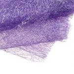 Мрежа тип паяжина със сребърна нишка 80x170 см лилава
