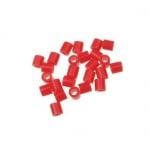 Мъниста за мозайка, фигурки и гривни 5x5 мм плътни червени светло -11 грама ~190 броя