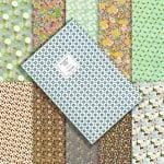 Дизайнерска хартия за скрапбукинг книга (25.5x38.5 см) 10 дизайна x 2 листа (51x38.5 см)