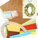 Комплект за направа и декорация на венец от хартиени цветя овал