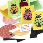 Комплект за направа и декорация на 4 броя картички 12x17.2 см калинка