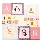 Дизайнерска хартия за скрапбукинг 12 inch (30.5x30.5 см) 13 листа щанцовани самозалепващи азбука