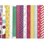 Дизайнерска хартия за скрапбукинг 12 inch (30.5x30.5 см) 10 дизайна x 2 листа и 10 дизайна x 2 листа перлени Colours of the year