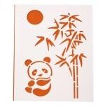 Шаблон за изрязване и рисуване 15x21 мм панда