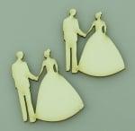 Младоженци от бирен картон 50x35x1мм -2 броя