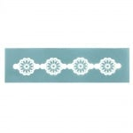 Шаблон за многократна употребa текстилен 13.5x4 см - флорален мотив № 2