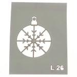 Шаблон за многократна употреба размер на отпечатъка 3.5x4 см Л26