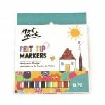 Комплект маркери с филцови връхчета MM Kids Felt Tip Markers -12бр