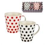 Комплект 2 бр. чаши за кафе/чай с точки