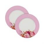 Перла комплект 2бр. чинии розови