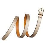 Дамски колан златен със златна кръгла тока PIERRE CARDIN