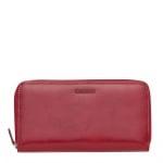 Червено дамско портмоне с цип CHIARUGI