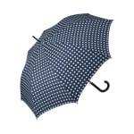 Дамски чадър PIERRE CARDIN - тъмно син с бели точки