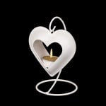 Фенер бяло сърце