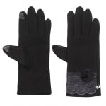 Черни ръкавици с дантела - PIERRE CARDIN