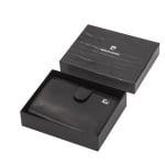 Мъжки черен портфейл PIERRE CARDIN -  вертикален, гладка кожа