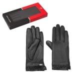 Ръкавици от естествена кожа с дантела - PIERRE CARDIN