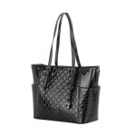 Дамска лачена черна чанта от еко кожа Pierre Cardin