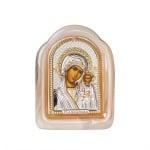 Икона Казанска Богородица стъкло 8,5*11,5см.