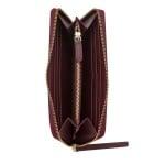 Дамско портмоне CERRUTI 1881 - бордо, с цип и гладка кожа