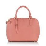 Дамска елегантна чанта в пастелно розово - ROSSI