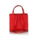 Дамска стилна раница в червено - ROSSI