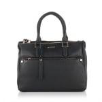 Дамска бизнес чанта в класическо черно - ROSSI