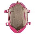 Дамска малка елегантна чанта в малиново розово - ROSSI