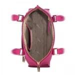 Дамска чанта с украсителни ципове в малиново розово - ROSSI