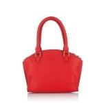 Дамска чанта с украсителни ципове в маслено червено - ROSSI