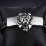 Мъжка гривна с лъв