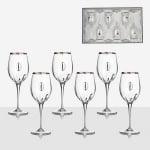 Чаши за вино с плочка 6 бр.  Monalisa wine