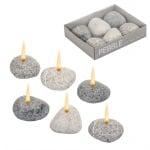 Свещи к-кт камъни 6бр.