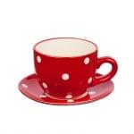Саксия чаша червена малка