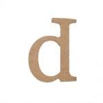 "Декоративен символ RicoDesign, ""d"", MDF, 4,1x2,8 cm"