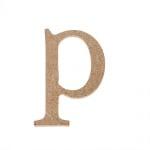 "Декоративен символ RicoDesign, ""p"", MDF, 4,1x3,0 cm"