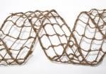 Мрежеста лента, юта, 100 mm, 10m, натурална